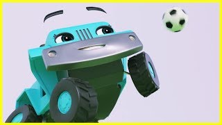 Buster Plays Soccer | Go Buster Full Episodes | Baby Cartoons | Kids Videos | ABCs and 123s