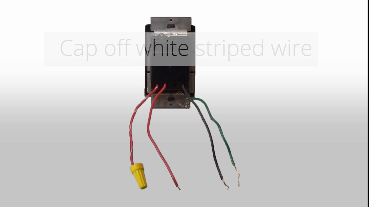 wiring a 3 way dimmer in a single pole application with wire leads rh youtube com 3 Wire Switch Wiring Diagram Dimmer Switch Wiring Diagram