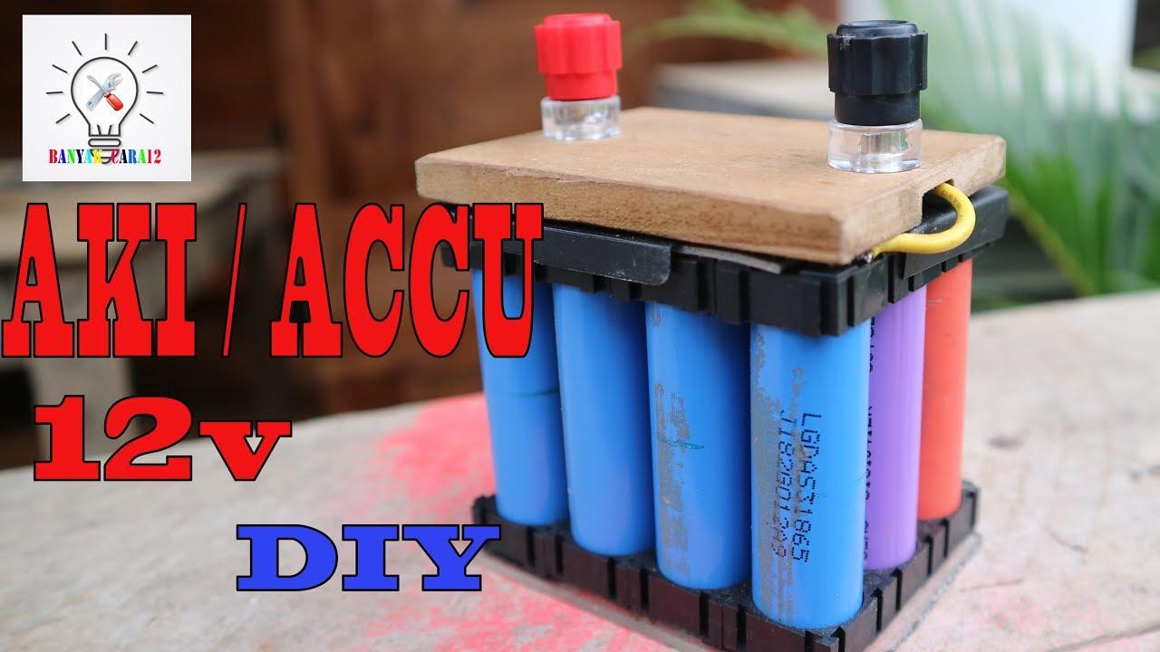 Cara Membuat Aki Accu Sepedamotor Dari Batre Bekas Laptop Lithium Ion Youtube