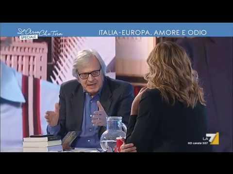 Scontro tra Vittorio Sgarbi e Corrado Formigli: 'Io sono italiano, non sono affatto europeo'
