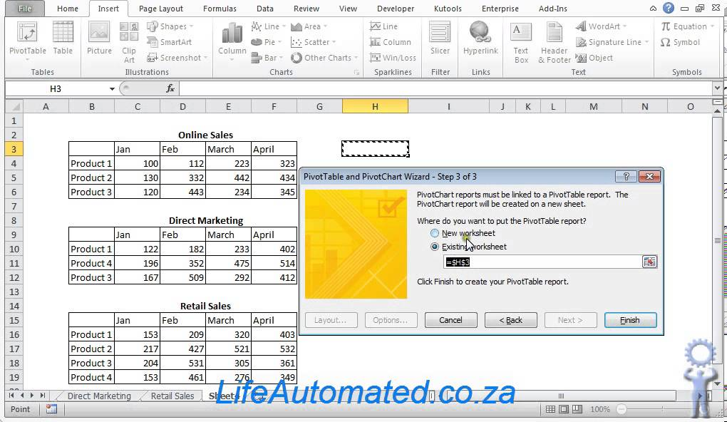 Create excel chart from multiple ranges and sheets youtube create excel chart from multiple ranges and sheets ccuart Images