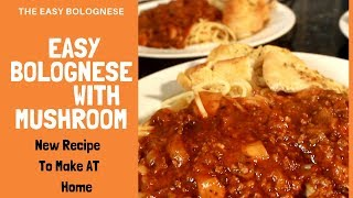 Easy Bolognese With Mushrooms Recipe | Chef Ricardo Cooking