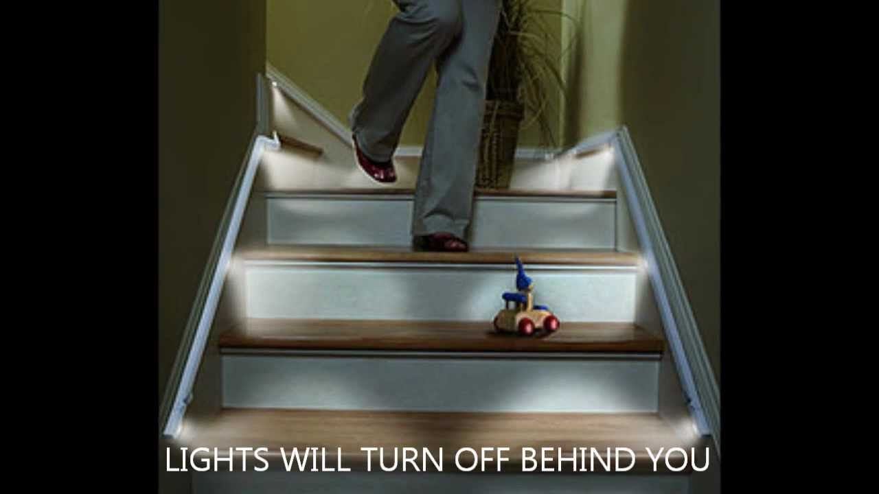 Automatic stair lights LED strips by Ariatronics - YouTube
