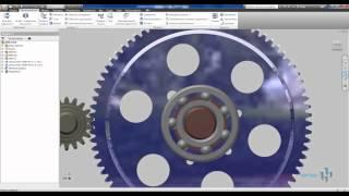 Зубчатое зацепление в Autodesk Inventor и подшипники
