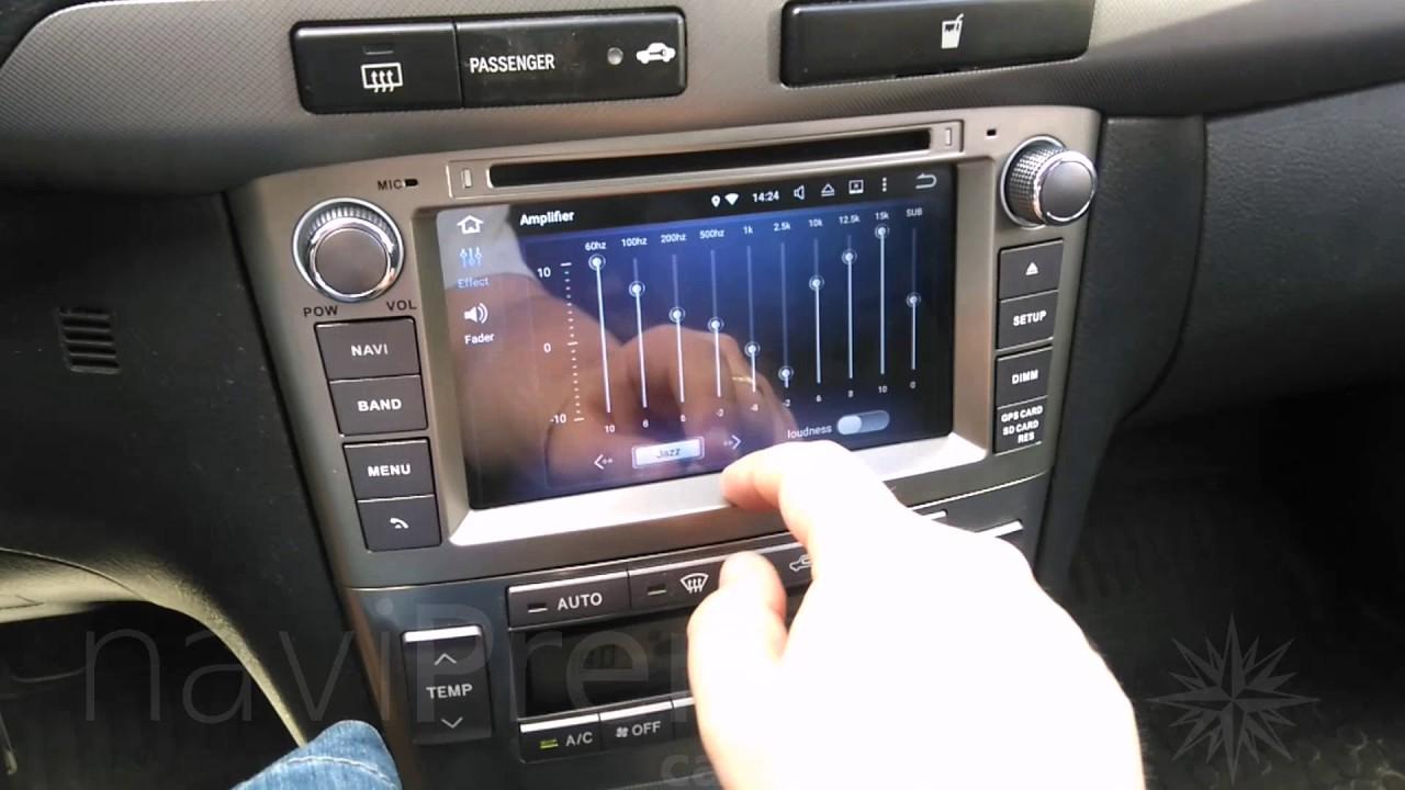 toyota avensis t25 2003 2009 radio nawigacja android 6 0 1