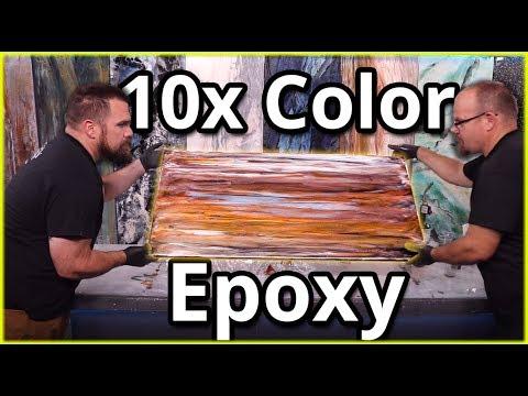 Multicolored Epoxy Pour | Stone Coat Countertops