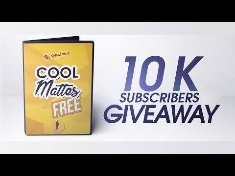 10K Subscribers Free Giveaway | Cool Studio Mattes | Use with any software!