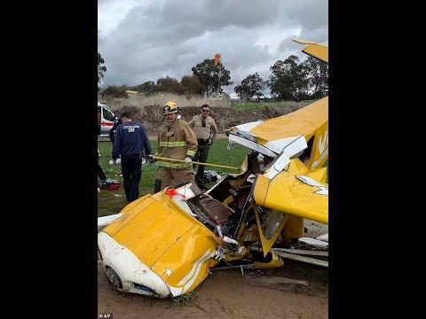 Small plane crash in California (Female pilot & passenger are cut out)