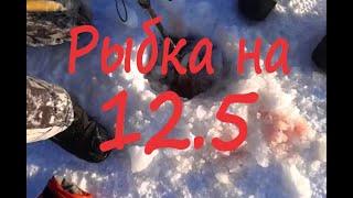 Щука на 12 5 КГ Рубили прорубь Первый лёд с жерлицами Выезд на Яузское водохранилище