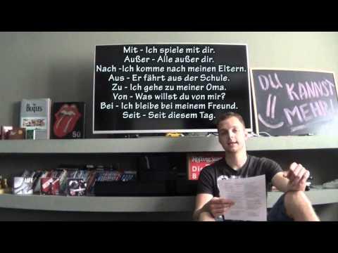 Урок 18. Аккузатив и Датив в немецком языке. Уровень Бог!