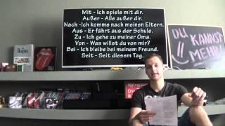 Урок 18. Аккузатив и Датив в немецком языке. Уровень