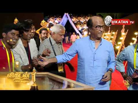 Superstar Rajnikanth at Ananda Vikatan Cinema Awards Pre-red carpet