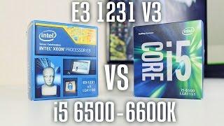 intel xeon e3 1231 v3 vs i5 6500   6600k kaufberatung