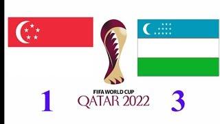 Сингапур Узбекистан ФУТБОЛ ОБЗОР МАТЧА 1-3 ГОЛЫ АХМЕДОВ ШОМУРОДОВ 1 МЕСТО В ГРУППЕ!!!! КАТАР 2022