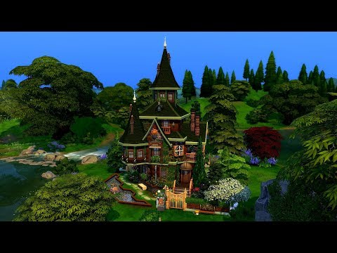The Sims 4 || Speed Build || Quirky Witch's House Collab /w MsGryphi