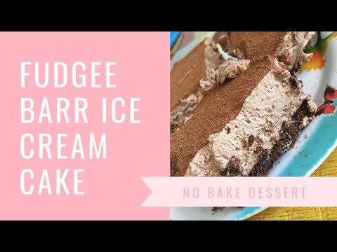 Easy No Bake Ice Cream Cake | Fudgee Barr No Gelatin Eggless Chocolate Mousse Cake