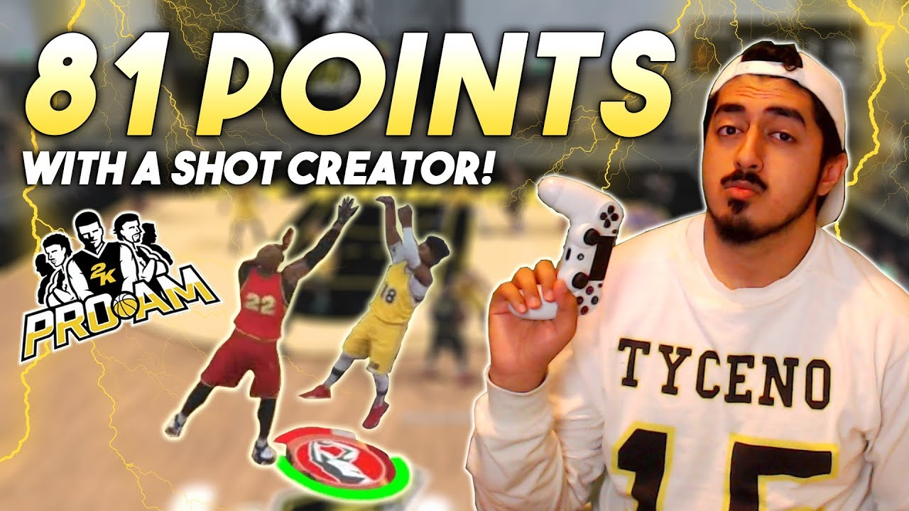 aab98ac3603a SCORING 81 POINTS WITH A SHOT CREATOR! INSANE STEPBACKS AND FADEAWAYS -  NBA2K17 Pro-Am