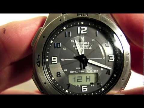 DST Setting for Casio Analog Digital Waveceptor Watch