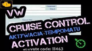 VW CRUISE CONTROL- How to activate cruise control,vag ,vw,audi,skoda,Aktywacja tempomatu VCDS