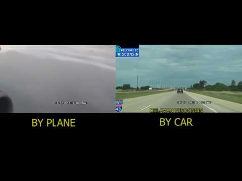 Milwaukee (MKE) to Las Vegas NV(LAS)Plane Vs Car