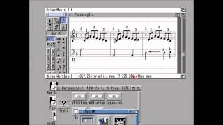 Deluxe Music 2 and Deluxe Paint 4 on Amiga
