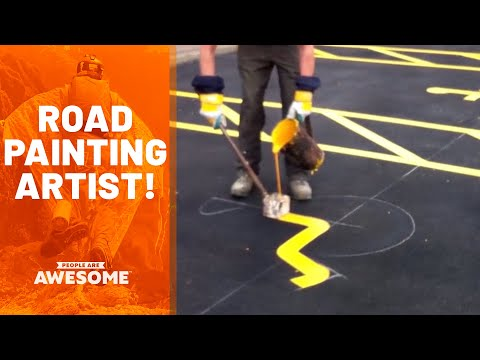 Satisfying Road Painting