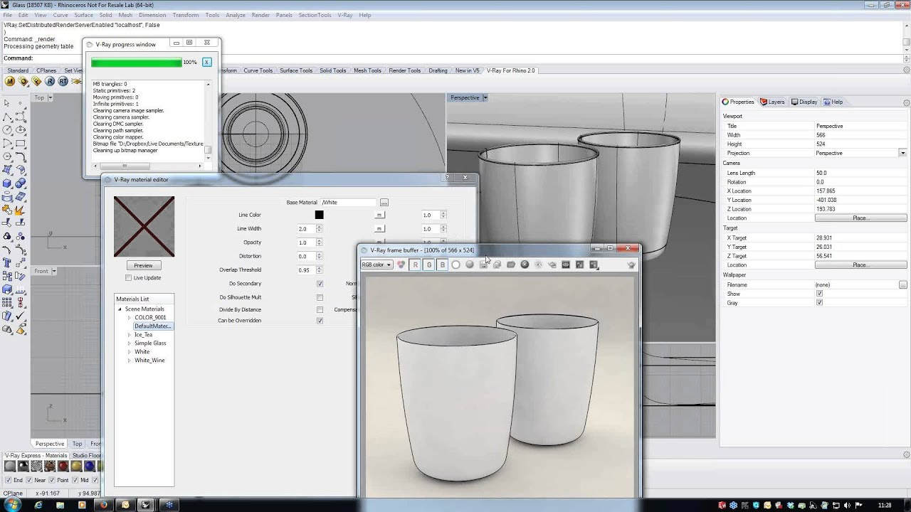 Overview Of Materials In V Ray 2 0 For Rhino Youtube