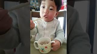 12개월 아기 이유식먹방, baby food MUKBA…