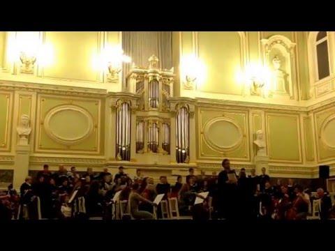 "Dec 12, 2015 Opera Choir St.Petersburg Conservatory(rehearsal) Mussorgsky ""Boris Godunov"""