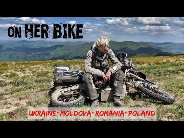 Ukraine, Romania, Moldova, Poland. On Her Bike Around the World. Episode 24