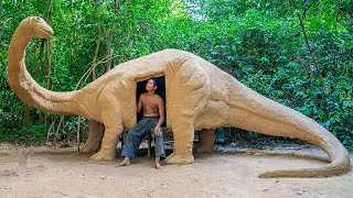 Build Unbelievable Jurassic House From Mud Near My Dog House