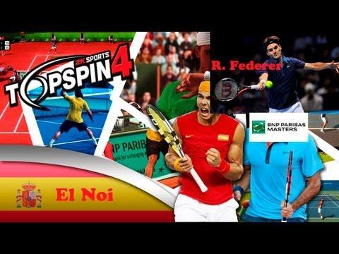 Top Spin 4 ps3 español modo carrera   BNP Paribas Master ATP   2º Ronda Roger Federer muy difícil