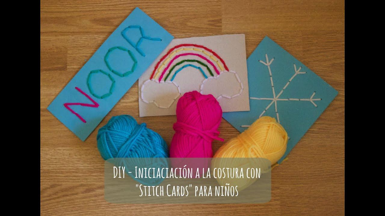 Diy Iniciación A La Costura Para Niños Con Stitch Cards Coser Con Manneken Youtube