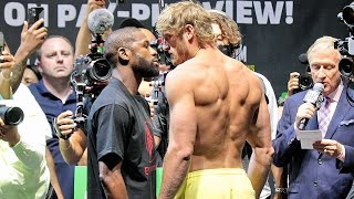 FLOYD MAYWEATHER VS LOGAN PAUL - FULL WEIGH IN AND FACE OFF VIDEO