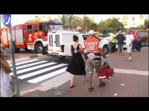 Scene of rocket attack in Ashkelon
