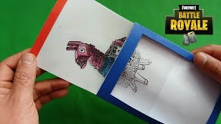 creates a card magic of Fortnite color changing   DIY Gift Card for Kids
