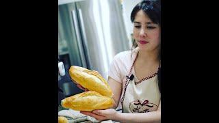 Bánh Mì ViệtNam vỏ giòn ruột xốp - 2 | bánh mì không phụ gia|0 cần Ủ BỘT 8 tieng|Phụ đề tiếng việt