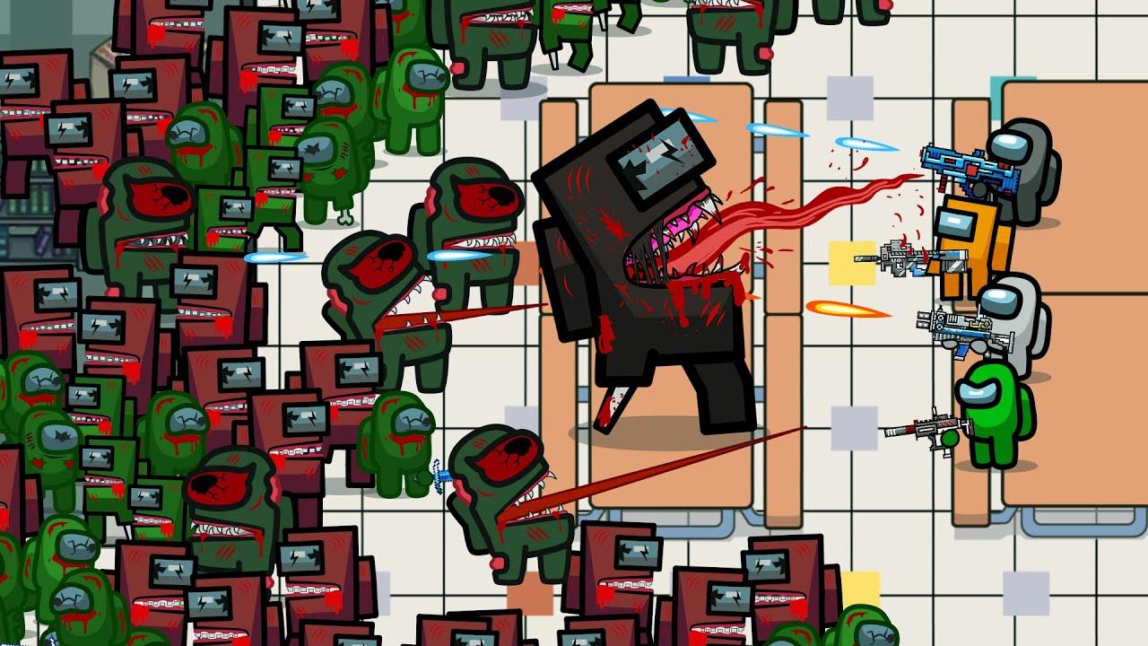Among Us VS Minecraft Zombies
