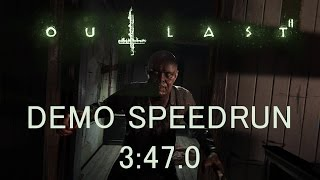 Outlast 2 Demo Speedrun Any% 3:47.0 (PC)