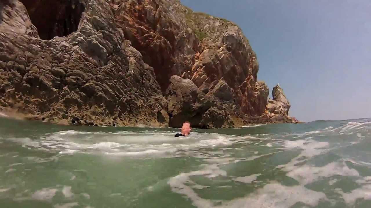 Gopro Hd Coasteering Ansteys Cove June 2013 Youtube