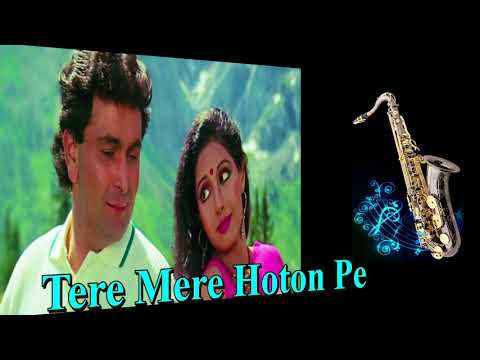 #342:- Tere Mere Hoton Pe | Chandni | Lata-Babla | Saxophone Cover by Suhel Saxophonist in Delhi