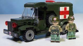 Lego WW2 Военная медицинская машина из Китая
