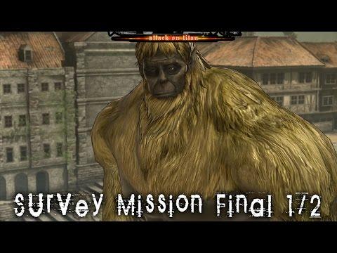 (PS4)Shingeki No Kyojin: Wings of Freedom | Survey Mission | Deepest Dephts Special Battlefield 1/2