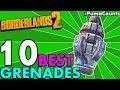 Top 10 Best Regular, Unique and Legendary Grenade Mods in Borderlands 2 Grenade Types #PumaCounts