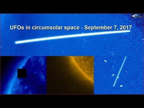 UFO in the solar space - September 7, 2017