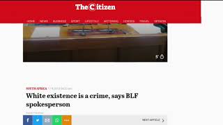 Esau Done Is | White existence is a crime, says BLF spokesperson