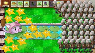 Plants vs Zombies Hack Mod - Cattail and Starfruit vs 99999 ZOMBIES