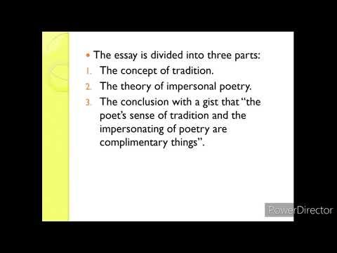 T. S. Eliot: Tradition and the Individual Talent Summary I Explained in Hindi I