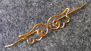 simple angel wings earrings for beginners - DIY wire jewelry 26