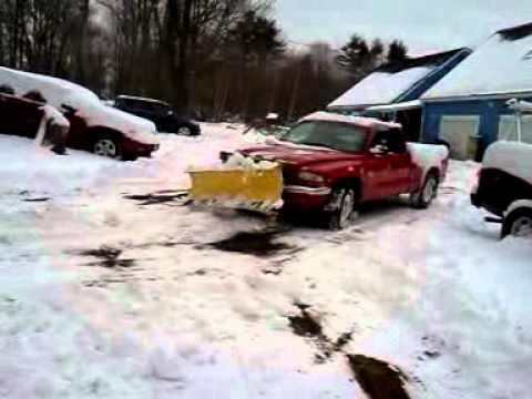 plow truck for sale pushing snow
